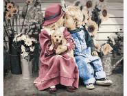 Дети, ангелочки, феи: картины без коробки Маленькая пара