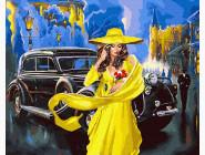 Портреты и знаменитости: раскраски без коробки Дама в желтом