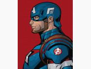 Портреты и знаменитости: раскраски без коробки Профиль Капитана Америкы
