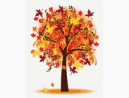 Природа и пейзаж: картины без коробки Осеннее дерево