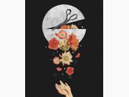 Абстрактные картины без коробки Лунный арт