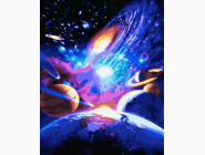 Машины, космос, самолеты: картины без коробки Краса космоса