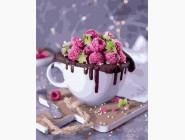 Раскраски для кухни Шоколадный десерт