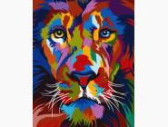 Животные: картины без коробки Радужный лев