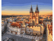 Городской пейзаж Панорама на Прагу