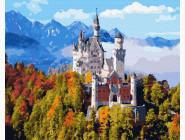 Города мира и Украины: картины без коробки Горный замок в облаках