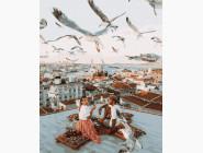 Романтика и влюбленные: картины без коробки Свидание на крыше