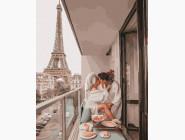 Романтика и влюбленные: картины без коробки Свидание в Париже