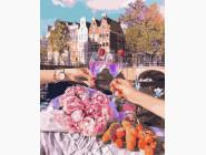 Романтика и влюбленные: картины без коробки Свидание в городе