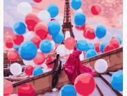 Романтика, любовь Воздушный Париж