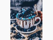 Раскраски для кухни Черничный десерт