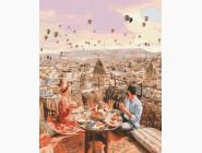 Романтика и влюбленные: картины без коробки BK-GX38265 Картина по номерам Свидание в Каппадокии (Без коробки)