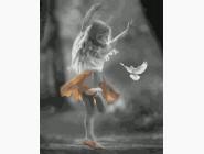 Дети, ангелочки, феи: картины без коробки Девочка и голубь