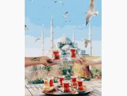 Города мира и Украины: картины без коробки Чаепитие в Стамбуле