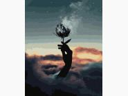 Абстрактные картины без коробки Цветок в дыму