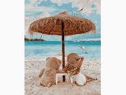 Портреты и знаменитости: раскраски без коробки На пляже с мишкой