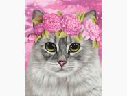 Коты и собаки: картины без коробки Цветочная корона