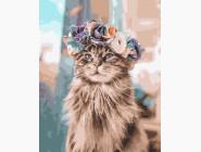 Коты и собаки: картины без коробки Кошка в веночке