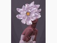 Портреты, люди на картинах по номерам В обьятиях цветов