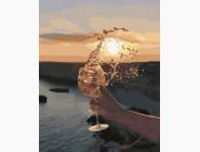 Морской пейзаж: картины без коробки Солнце в бокале