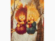 Картины по номерам для детей Солнечные ангелы на ветке