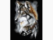 Животные: картины без коробки Волчий профиль