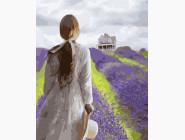 Портреты и знаменитости: раскраски без коробки Девушка в лавандовом поле