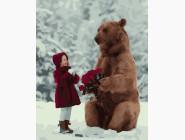 Дети, ангелочки, феи: картины без коробки Маша и медведь