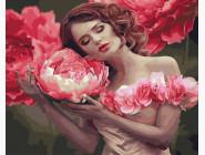 Букеты и натюрморты: картины без коробки Девушка с розой