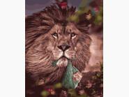 Животные: картины без коробки Лев с малышом
