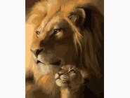 Животные: картины без коробки Сын и папа