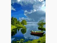 Природа и пейзаж: картины без коробки Лодочка на берегу