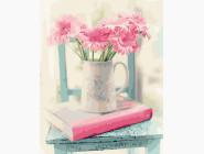 Букеты и натюрморты: картины без коробки Розовые герберы