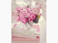 Букеты и натюрморты: картины без коробки Чайная роза