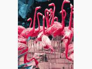 Птицы и бабочки: картины без коробки Фламинго