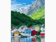 Природа и пейзаж: картины без коробки Альпийский городок