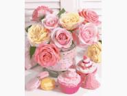 Букеты и натюрморты: картины без коробки Букет нежных роз