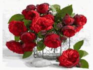 Букеты и натюрморты: картины без коробки Букет алых роз
