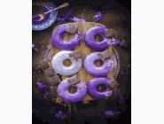 Раскраски для кухни Лавандовые пончики