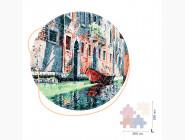 Деревянные пазлы Гондола на канале Венеции (Размер L)