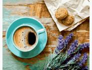 BRM21514 Картина по номерам Кофе и букет лаванды