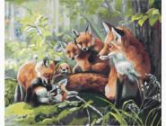 Семья лисичек