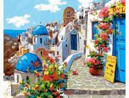 BRM22383 Раскраски по номерам Весна в Санторини