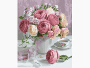BRM22794 Раскраски по номерам Нежный букет роз