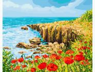 BRM22954 Картина по номерам Скалистый берег