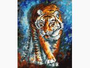 Животные и рыбки Голодный тигр