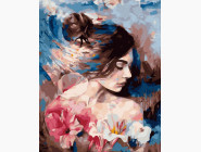 Портреты, люди на картинах по номерам Девушка и цветы