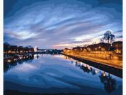 Пейзаж и природа Вид на ночную реку