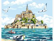 Море, морской пейзаж, корабли Мон-Сен-Мишель