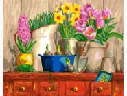 Натюрморт из 3-х цветков